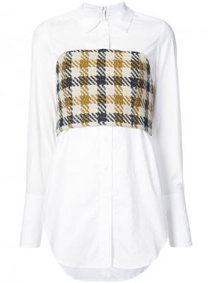 Рубашка с контрастной корсетной вставкой Sea. Цвет: многоцветный