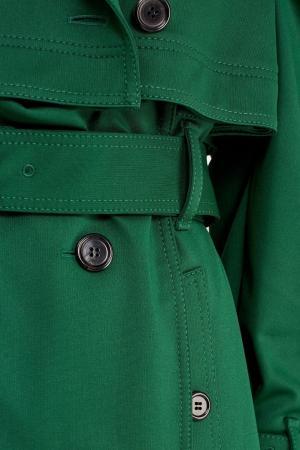 Зеленый двубортный тренч Valentino. Цвет: зеленый