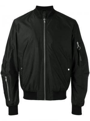 Куртка-бомбер  Tech Odeur. Цвет: чёрный