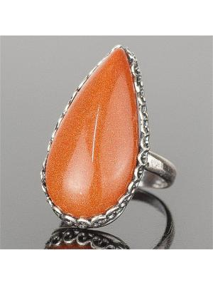 Кольцо Мариэтта авантюрин Колечки. Цвет: коричневый