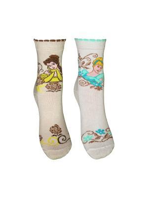 Носки 2 пары Master Socks. Цвет: белый, бежевый