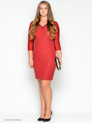 Платье FRENCH HINT. Цвет: красный