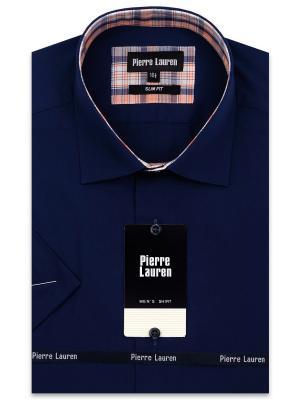 Рубашка Pierre Lauren. Цвет: темно-синий