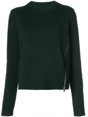 Вязаный пуловер Proenza Schouler. Цвет: зелёный