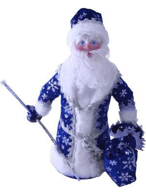 Дед Мороз под елку 40 см СИНИЙ Карнавал-Премьер. Цвет: темно-синий