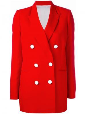 Двубортный пиджак Victoria Harmony Paris. Цвет: красный