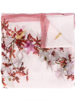 Шарф с цветочным принтом Faliero Sarti. Цвет: розовый и фиолетовый
