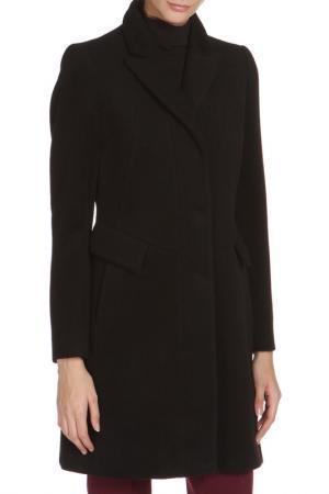 Полуприлегающее пальто с застежкой на кнопки Cinzia Rocca. Цвет: черный