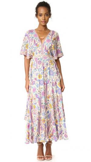 Вечернее платье Lovebird Half Moon SPELL. Цвет: ромашка