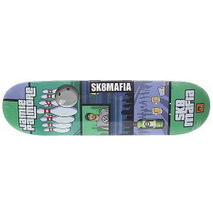 Дека для скейтборда  Palmore Gamer Green/Grey 32.38 x 8.5 (21.6 см) Sk8mafia. Цвет: мультиколор