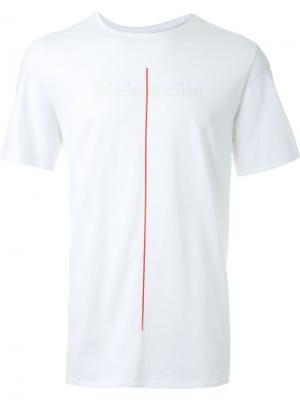 Футболка с принтом вертикальной полоски Cy Choi. Цвет: белый