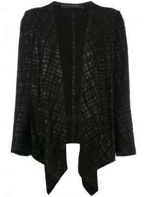 Блейзер с вышивкой Federica Tosi. Цвет: чёрный