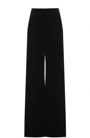 Бархатные расклешенные брюки Roland Mouret. Цвет: черный