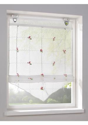 Римская штора Heine Home. Цвет: молочно-белый/розовый
