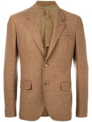 Блейзер с карманами Caruso. Цвет: коричневый