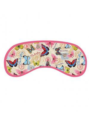 Маска для сна из полиэстера с поролоновым наполнителем и двойной эластичной резинкой Magic Home. Цвет: розовый