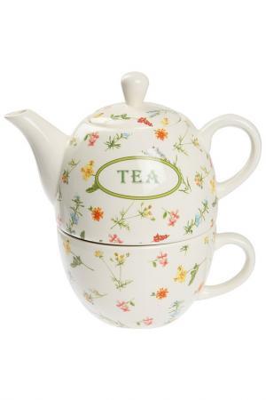 Чайник с чашкой Флора Tognana. Цвет: мультицвет