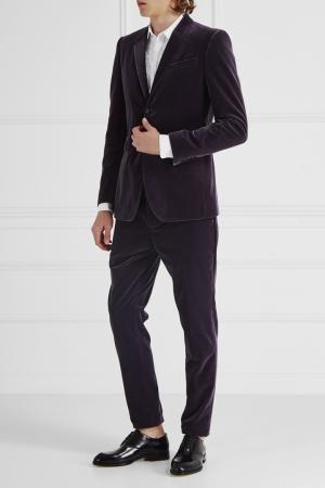 Бархатный костюм Burberry. Цвет: фиолетовый