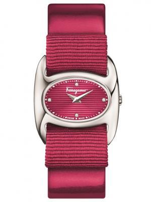 Часы Salvatore Ferragamo. Цвет: темно-красный, темно-бордовый, терракотовый