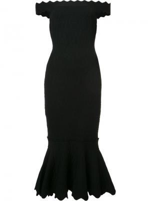 Платье с открытыми плечами Jonathan Simkhai. Цвет: чёрный