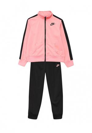 Костюм спортивный Nike. Цвет: розовый, черный