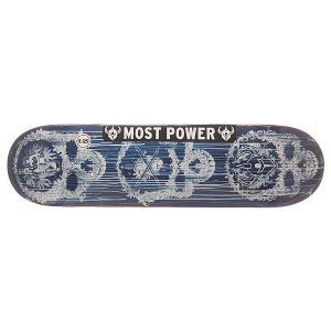 Дека для скейтборда  S6 Hyb Addiction Blue 31.8 x 8.125 (20.6 см) Darkstar. Цвет: синий,белый