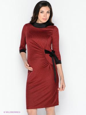 Платье для беременных 40 недель 30346/красночерный