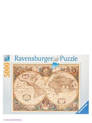 Паззл Историческая карта, 5000 шт Ravensburger. Цвет: белый, коричневый, синий