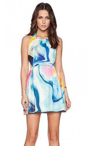 Мини платье eternal Ringuet. Цвет: синий
