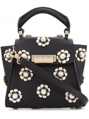 Мини сумка через плечо Earthy Iconic Top Handle Zac Posen. Цвет: чёрный