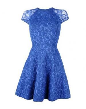 Короткое платье VICEDOMINI. Цвет: синий