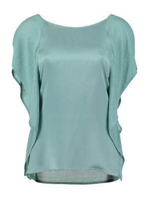 Блузка DS. Цвет: бирюзовый