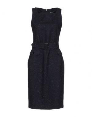 Платье до колена AQUASCUTUM. Цвет: темно-синий