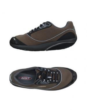 Низкие кеды и кроссовки MBT. Цвет: голубиный серый