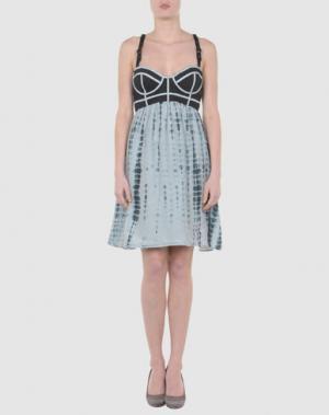 Короткое платье VALENTINE GAUTHIER. Цвет: черный