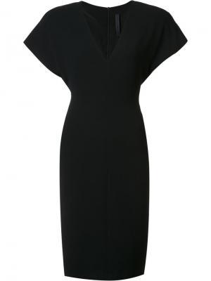 Приталенное платье с широкими рукавами Gareth Pugh. Цвет: чёрный