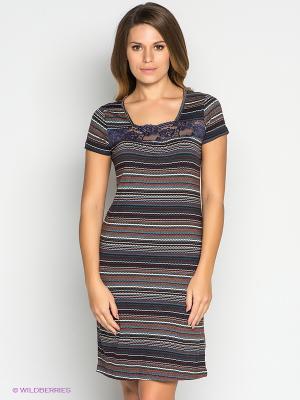 Платье PENYE MOOD. Цвет: коричневый, белый, синий, зеленый, бордовый