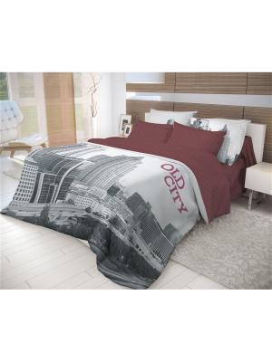 Комплект постельного белья Волшебная ночь Семейный Old City. Цвет: красный, серый, черный