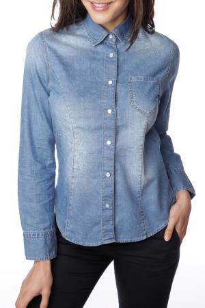 Рубашка GAZOIL. Цвет: голубой
