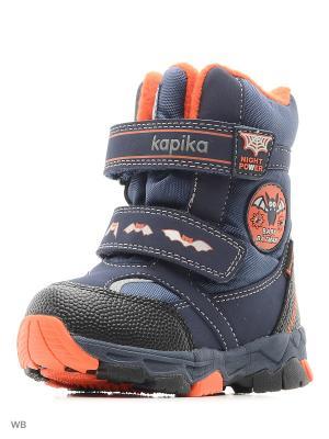 Ботинки Kapika. Цвет: темно-синий, оранжевый