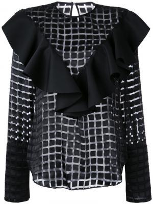 Блузка Valentine Bianca Spender. Цвет: чёрный