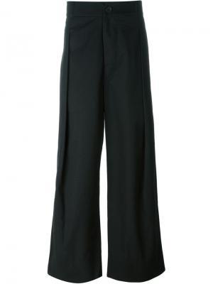 Широкие брюки Berthold. Цвет: чёрный
