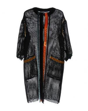 Легкое пальто MAURIZIO PECORARO. Цвет: черный