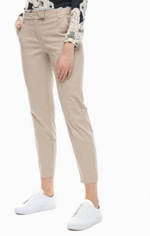 Бежевые брюки чиносы из хлопка Marc O'Polo. Цвет: бежевый