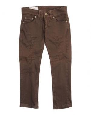 Джинсовые брюки DONDUP DQUEEN. Цвет: темно-коричневый