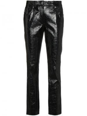 Укороченные брюки средней посадки Helmut Lang. Цвет: чёрный