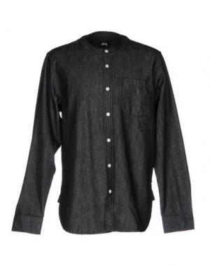 Джинсовая рубашка STUSSY. Цвет: черный