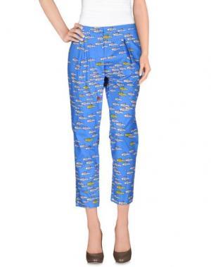 Повседневные брюки 10X10 ANITALIANTHEORY. Цвет: лазурный
