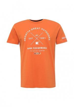 Футболка Regatta. Цвет: оранжевый