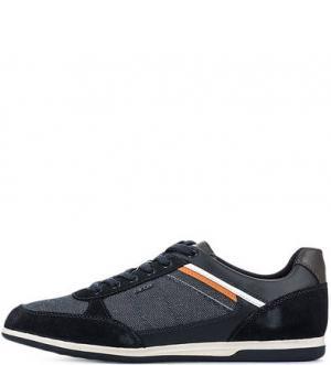 Синие кроссовки с вкладной стелькой Geox. Цвет: синий